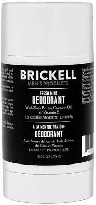 Brickell Men's Products Fresh Mint Deodorant For Men, Natural And Organic, And