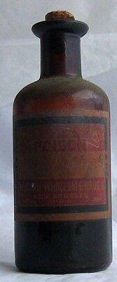 VTG Western Wholesale Drugs Wine of Antimony Poison Skull & Crossbow cork Rx