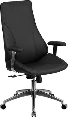 High Back Black Leather Executive Swivel Office Chair - Conference Office Chair