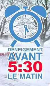 Snow removal before 5h30am / deneigement avant 5h30am