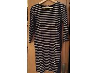 Jojo Maman Bebe Navy Stripy Maternity Dress (size M)