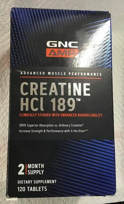 Roll over image to zoom in GNC AMP HCl 189, 120 Tablets