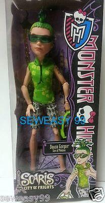 Monster High SCARIS Travel Doll Deuce Gordon Son Of Medusa  on Rummage