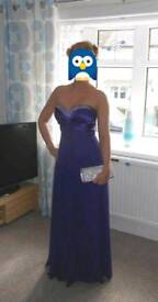 Purple evening dress. Free postage