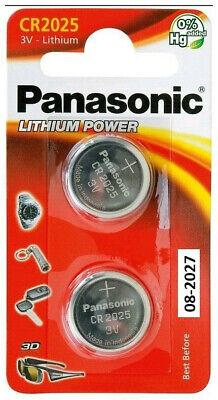 2er Panasonic CR 2025 Lithium Power im 2er Blister 3V Uhren Knopfzelle Batterien (Panasonic Cr2025)