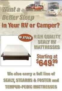 Want a Better Sleep in Your RV or Camper?  We have High Quality Sealy RV Mattresses!