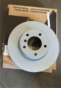 Genesis coupe fromt brake rotors