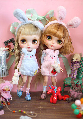 "SWEETIIGER Marshmallow bunny outfit For 12""  Blythe/Pulli/azone  Doll Clothes  - Marshmallow Outfit"