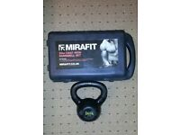 20 kg Cast iron MIRAFIT DUMBBELL SET + 9kg Kettle Bell