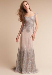 Formal Champagne Couture Dress - Size 16