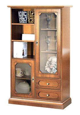 Mueble vitrina de salón, mueble de comedor en madera con vitrinas y...