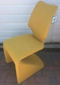 2 dining chairs grey & mustard hardly used