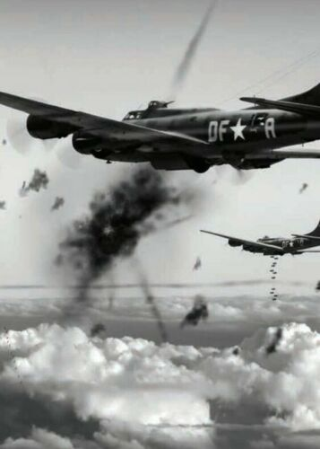 B17 Flying Fortress Memphis Belle on a raid over Germany #2001 WW2 Print 5 x 7
