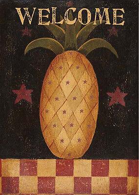 Pineapple Garden - Americana Pineapple Country Folk Welcome Toland Garden Flag