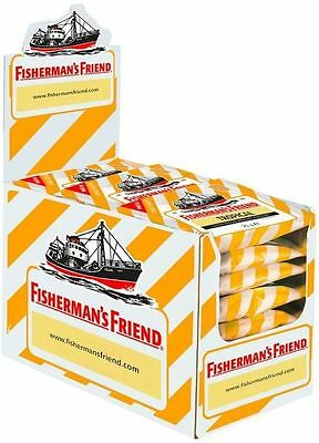 Fishermans Friend Pastillen ((1000g=33,32€) Fishermans Friend Tropical - ohne Zucker - 24 Beutel - Pastillen)