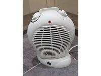 Fan heater upright oscillating