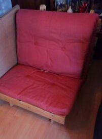 Pine single futon