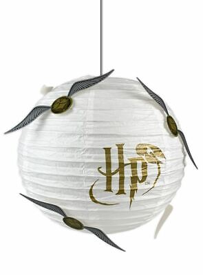 OFFICIAL HARRY POTTER GOLDEN SNITCH PAPER CUBE HANGING LIGHT SHADE LAMP