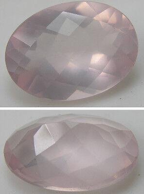 19.80Ct or 3.95g Brazil 100% Natural Rose Quartz Clean Crystal Gemstone