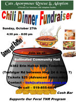Chili Dinner Fundraiser for Cats Anonymous Rescue & Adoption
