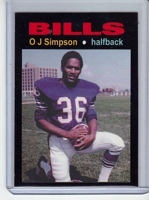 O J Simpson 69 Buffalo Bills Rookie Season Mc Glory Days  4