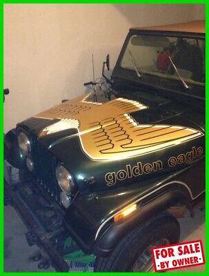 Jeep CJ Golden Eagle 4X4 1978 Jeep CJ5 Golden Eagle 4X4 Replaced Motor Manual Bubble Alarm System TEXAS