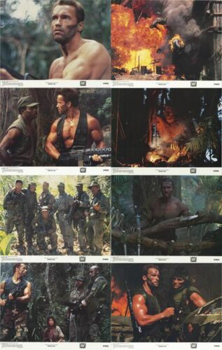PREDATOR (1987) Lobby Cards Complete Set of 8 LIMITED OFFER!!