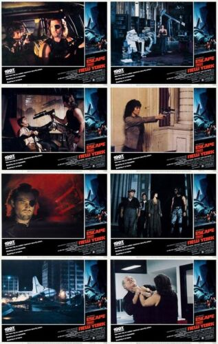 ESCAPE FROM NEW YORK Lobby Cards (1981) Complete Set of 8