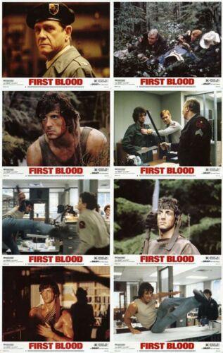 FIRST BLOOD (1982) RAMBO Stallone U.S. Lobby Cards Set  (8 x 10)