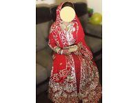 Bridal red Lengha