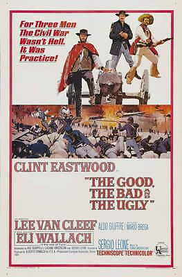 THE GOOD, THE BAD AND THE UGLY Movie POSTER 11x17 Clint Eastwood Eli Wallach Lee