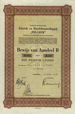 PELGRIM Lit. B Gaanderen Doetinchem Terborg ATAG Duiven 12 Gulden Holland Aktie
