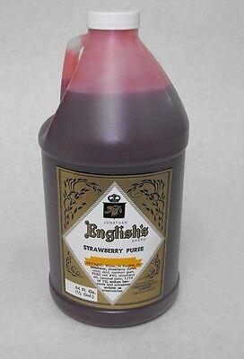 J. English Strawberry Puree Frozen Margarita Daiquiri Tiki Slushee Drink Mix