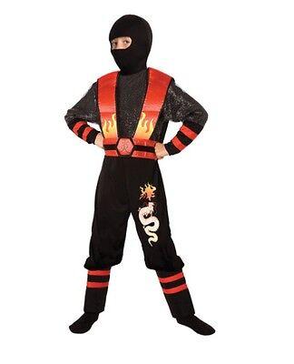Boys Dragon Costume (Boys Dragon Ninja Halloween Costume Size 4-6 Brand New In)