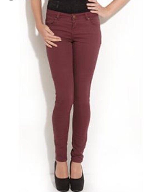 New look red skinny jeans