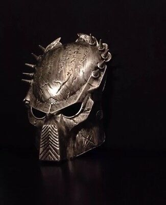 Halloween Alien Costumes (Predator Mask AVP Alien Hunter Halloween Party Adult Costume Horror Prop)
