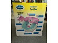 Scholl Foot spa with 9 piece pedicure set