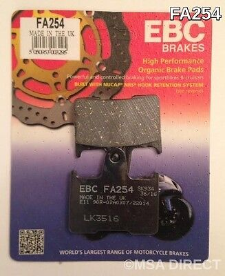 Harley Davidson XL883 (2014 to 2017) EBC Organic REAR Disc Brake Pads (FA254)