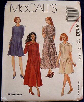 8488 MCCALL'S MISSES DRESS SEWING PATTERN SIZE C 10 12 14 PETITE NEW