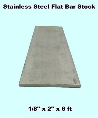 Stainless Steel Flat Bar Stock 18 X 2 X 6 Ft Rectangular 304 Mill Finish