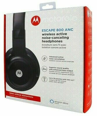 Motorola Escape 800 ANC Noise Cancelling BLUETOOTH Headset Headphones & Mic NEW