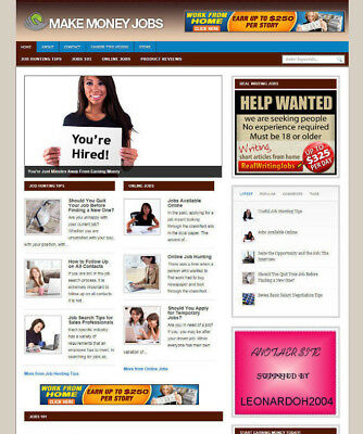 Money Making Jobs Tips Blog Website For Sale - Affiliate Store Banners