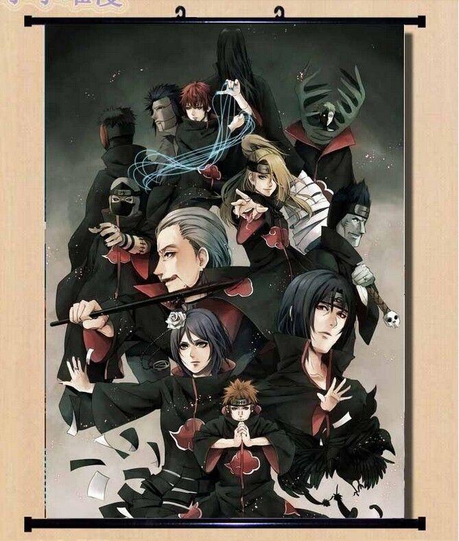 Home Decor Wall poster Scroll Naruto Akatsuki Orochimaru uchiha madara Sasuke 59