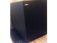 Jamo SUB200 Sub Woofer Floor Standing Black. 200w. Used. Good condition.