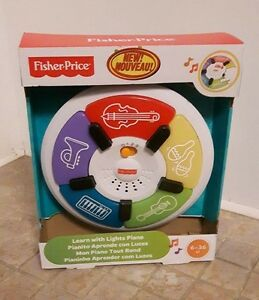 Piano d'apprentissage lumineux de Fisher Price