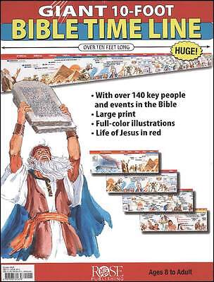CLASSROOM GIANT 10-FOOT BIBLE TIME LINE - New Wall Chart by Rose Publishing - Bible Time Line
