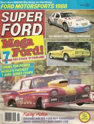 SUPER FORD 1988 FEB - BOSS 9 ID, KILLER T-T'BIRD, PROBE TEST, SALEEN-SEBRING