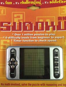 NEW ELECTRONIC SUDOKU FUN 1,000,000 PUZZLES 5 LEVELS SODUKO SUDUKO SPECIAL OFFER
