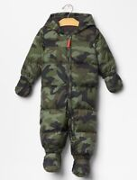 Baby Gap camouflage 1 piece snowsuit NEW with tags