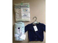 BEAUTIFUL BABY BOY'S CLOTHES & TOWEL - MUST GO ASAP